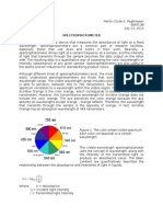 Clin. Chem. Assignment - Spectrophotometer