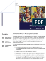 Newsletter CAMMP n.º 23 de julho de 2015