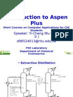 Introduction to Aspen Plus-2012