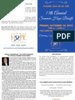 13th Annual Summer Hope Benefit Invitation