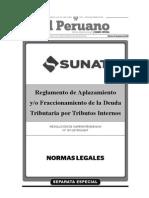 Reglamento Fraccionamiento - RS 161 2015 SUNAT