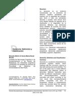 Clasificación de Demencias. Nitrini y Brucki 2102