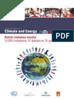 Debate Ciudadano Planetario sobre Clima y Energía.