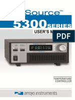 Arroyo 5300 Tec Source Users Manual