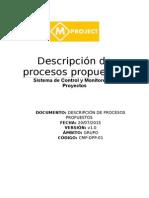 Procesos propuestos