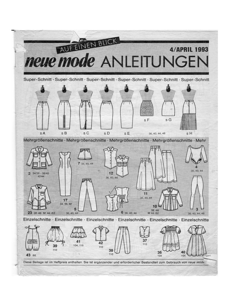 Neue Mode 4 April 1993