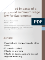 UC Bekeley Labor Center- Sacramento Minimum Wage Presentation