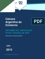 Evolución exportaciones intrazona Mercosur