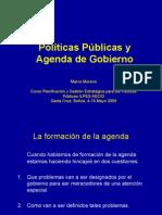 Agenda y Politicas
