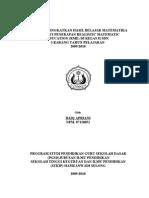 AWAL SKRIPSI UPAYA MENINGKATKAN HASIL BELAJAR MATEMATIKA MELALUI PENERAPAN REALISTIC MATEMATIC EDUCATION (RME) DI KELAS II SDN