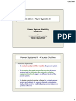 Power Systems III - Stability 1