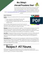 bishop procedures sheet