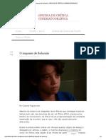 O impasse de Salomão _ OFICINA DE CRÍTICA CINEMATOGRÁFICA