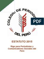 Estatuto Colegio de Periodistas del Perú 2015