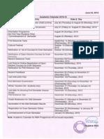 Academic Calendar 2015 16