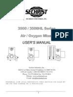 Sechrist 3500 Blender - User Manual