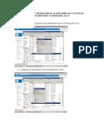 Instalacion y Migracion de Plataforma Gp y Sitios de Sharepoint a Versiones 2013