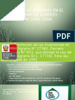 g.5 Políticas Agrarias en El Gobierno de a. Fujimori