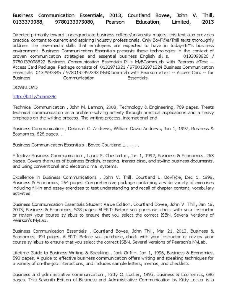 business communication essentials pdf technical communication business communication essentials pdf technical communication economics