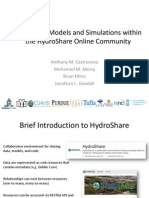 Anthony Castronova - Hydrologic Models and Simulations within the HydroShareOnline Community