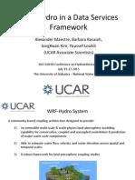 Alexander Maestre - WRF-Hydro in a Data Services Framework