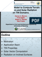 Hernan Moreno - A VectorialModel to Compute Terrain Parameters and Solar Radiation on TIN Domains