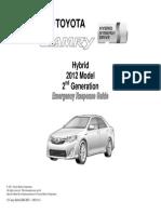 Toyota Hybrid Camry Emergency Response Guide