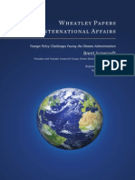 Foreign Policy Challenges Facing the Obama Administration