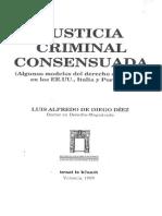 Justicia Criminal Consensuada de Luis Alfredo Diego Diez