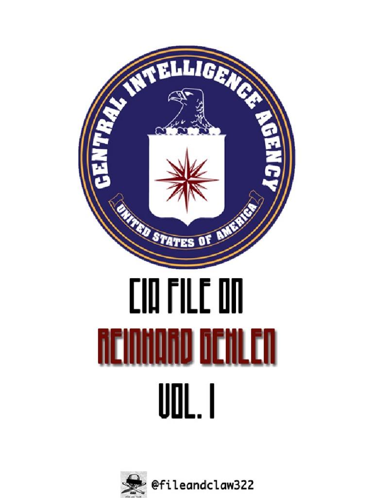 Gehlen Reinhard Cia File Vol 1 Defense Policy Military