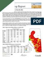 Alberta crop report