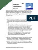 Anti Money Laundering Policy 2011