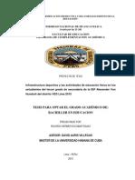 Tesis dInfraestructura deportiva y las actividades de educación física en los estudiantes del tercer grado de secundaria de la IEP Alexander Von Humbolt del distrito VES Lima 2015e Investigación