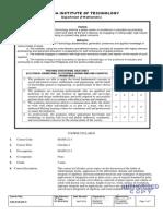 Math 22-1 Syllabus (Ee, Ece,Cpe)