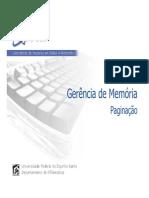 Gerencia de Memoria (2) - Paginacao