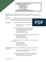 website resume  080115