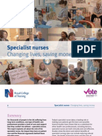 Specialist Nurses Changing Lives, Saving Money