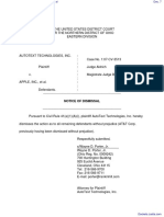 AutoText Technologies, Inc. v. Apple, inc. et al - Document No. 7