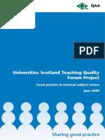 Teaching Quality University of Scotland
