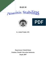Bab 10 Analisis Stabilitas