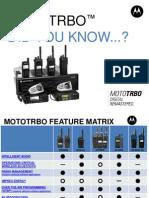 Motorola MOTOTRBO Feature Matrix