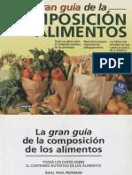 La Gran Guía de La Composición de Los Alimentos