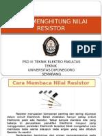 Cara Menghitung Nilai Resistor