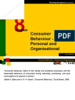 Marketing Management - Consumer Behaviour