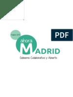 Gobierno Colaborativo y Abierto -Ahora Madrid-