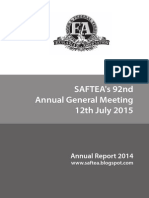Saftea Annual Report 2014