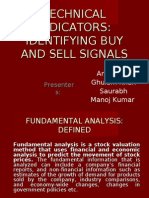 Identifying Buy and Sell Signals Using Technical Indicators