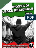 Proposta di Legge Regionale 2009 Blocco Studentesco Veneto