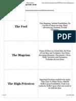 Free Printable Tarot Card Meanings Flashcards | Word Dynamo