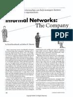 Informal Networks